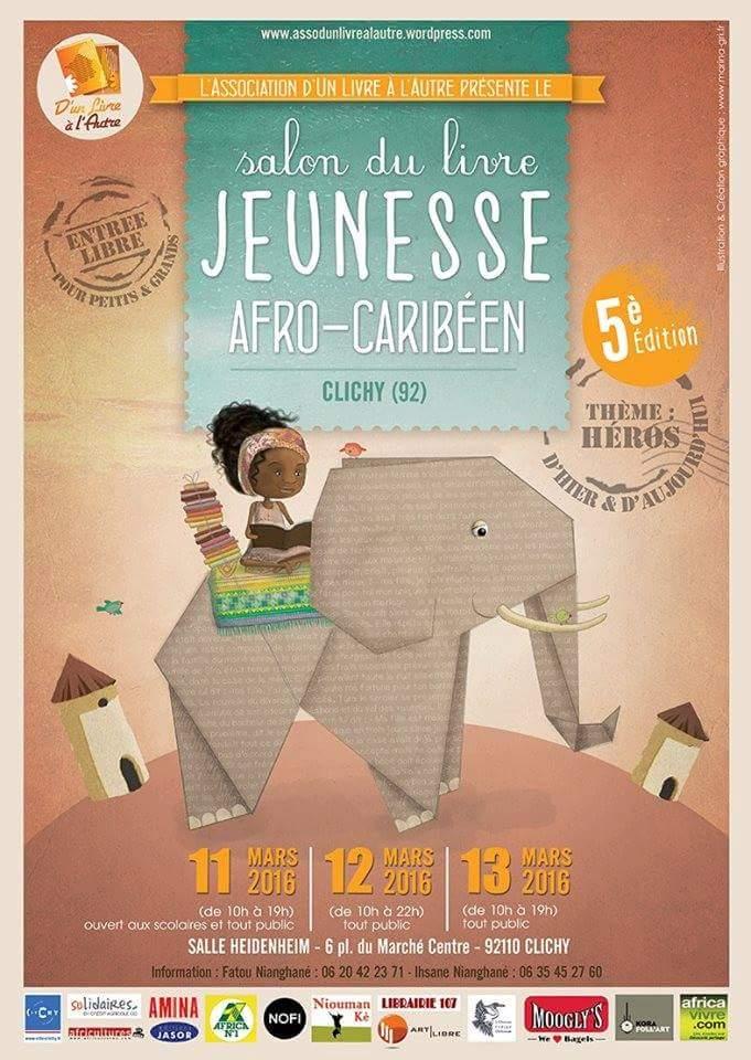 """5e édition du""""Salon du livre: jeunesse Afro-Caribéen"""