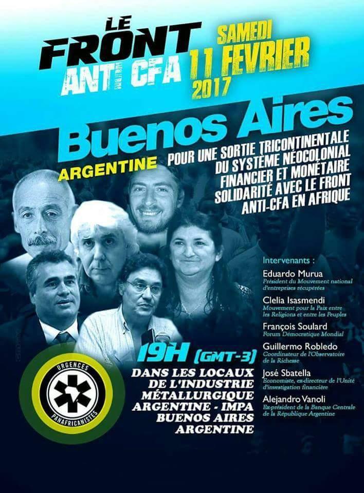 Le Front anti CFA prend de l'ampleur, rendez-vous le 11 février 2017