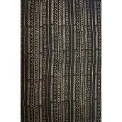 Bogolan africain noir a motifs geometriques