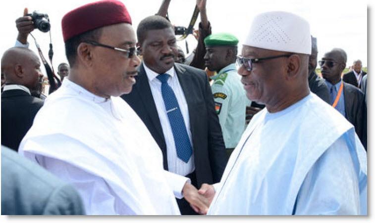 Le président nigérien félicite son homologue malien suite à sa réélection