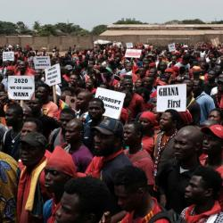 Les partis d'opposition manifestent contre l'insécurité au Ghana