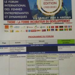La 4ème édition du Forum international des Femmes entreprenantes et dynamiques