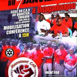 Mobilisation à Ouagadougou