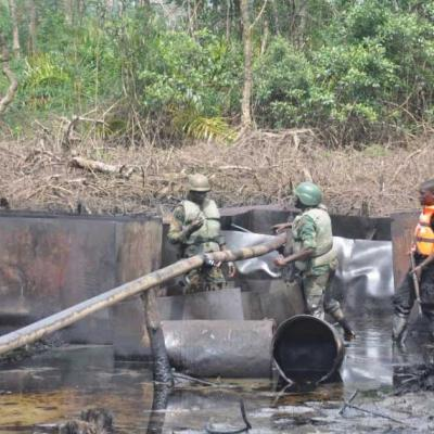 Illegal refineries in delta