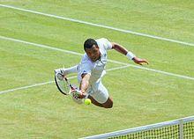 Jo wilfried tsonga wimbledon 2011 jump volley