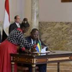 Le Gabon et l'Egypte signent un accord commercial à l'occasion d'une visite officielle d'Al-Sissi