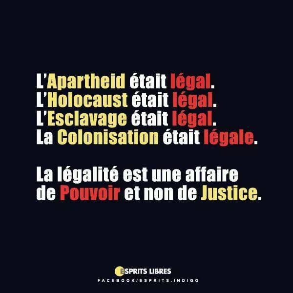 """""""Légal"""" ne signifie pas """"Morale"""""""