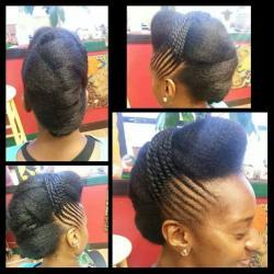 Beauté ébène/idées coiffures