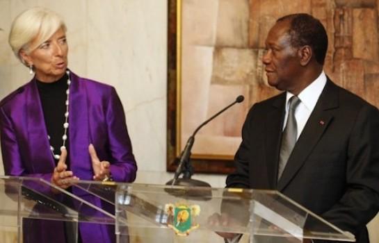 Ouattara et lagarde
