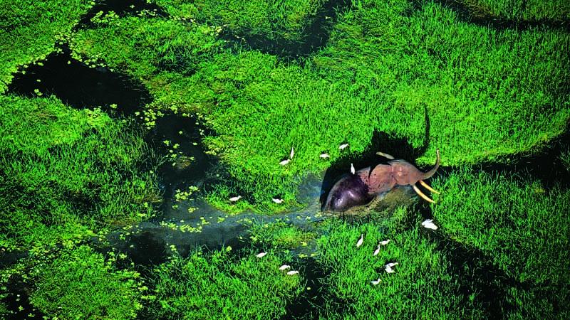 Vue aérienne de Loango